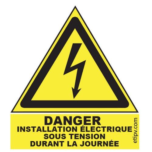"""Etiquette Adhésive """"Danger..."""