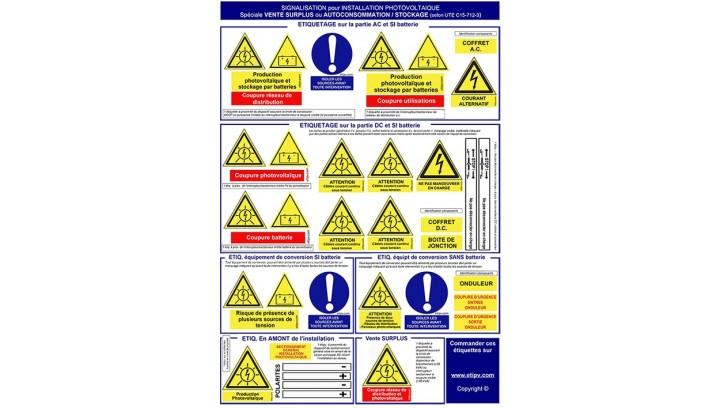 Nouveauté 2019 : planches spécifiques étiquettes pour installations en Autoconsommation et revente Surplus